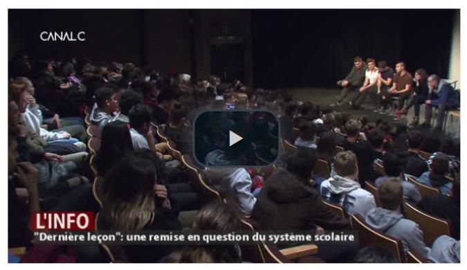 """Journal de Canal C du 23 avril 2019 : """"Dernière leçon"""" pour bousculer l'école."""""""